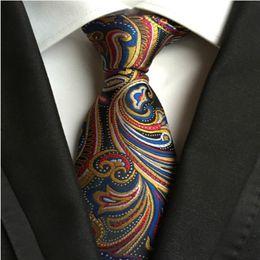 Wholesale Men Stripe Neck Ties - 185 Style Handmade Men Ties Silk Paisley Tie Wedding Prom Party Neck Ties Business Formal Ties Fashion Stripes Plaids Dots Neckties A126