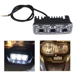 Wholesale Motorcycle Lamp Led Auxiliary - 6W 700LM LED Headlight Three Lamp Beads External Spotlights Auxiliary Headlamps with White Light for Motorcycle MOT_21I