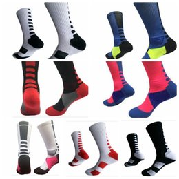 Wholesale Wholesale Socks Usa - Professional Elite Basketball Socks stocking Athletic Sport Socks Fashion USA Winter warm basketball 7 color KKA3495