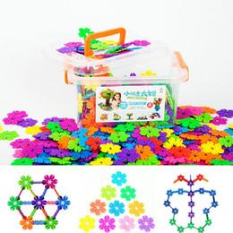 Wholesale Toy Building Blocks Bulk - Colorful Bulk Lots Free shipping Montessorri Child DIY Educational Building Block Toys Snow Flower Gift Item Building Blocks