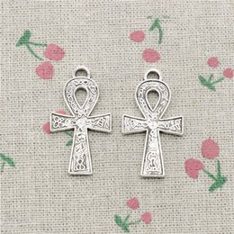 Wholesale Wholesale Ankh Charms - 35pcs Charms egyptian ankh life symbol 38*21mm Antique Silver Pendant Zinc Alloy Jewelry DIY Hand Made Bracelet Necklace Fitting