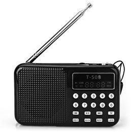 Al por mayor-Mini portátil de doble banda digital LED pantalla estéreo FM Radio altavoz USB TF Mirco para tarjeta SD MP3 reproductor de música desde fabricantes