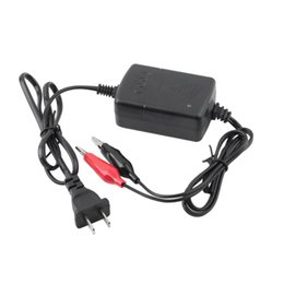 led universal charger Coupons - Wholesale- 12 V Sealed Lead Acid Rechargeable car universal Battery usb Charger Black & Red Rechargeable Sealed Lead Battery Charger HOT #