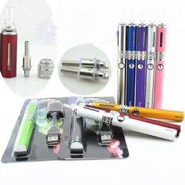 Wholesale Double Ecigarette - EVOD MT3 dual coil blister kit double heat wires MT3 atomizer electronic cigarette 650 900 1100mah EVOD battery CE ecigarette starter DHL