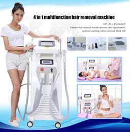 Wholesale e light ipl rf - 4in1 OPT E- light IPL RF YAG laser Hair Tattoo Removal Multi Function Beauty Machine for Multi Treatments