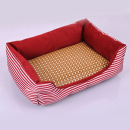 Wholesale Cool Dogs Beds - 2017 New Summer Pet Dog Cat Summer Cooling Bed Straw Bamboo Cozy Sleeping Pad Mat Bed Mats S M L
