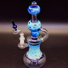 Tuyau de couleur en Ligne-Bong! Nouveau Multi couleur verre eau Pipes Fab oeuf avec Matrix Perc 14.5mm femelle mixte huile Rigs Bongs en verre