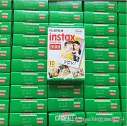 Wholesale Photo Cameras - New Arrive Fujifilm Instax Mini 8 film for Fuji Instax Mini 7s 8 9 70 Instant Photo Camera Share SP-1 SP-2 White Film