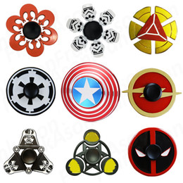 Wholesale Star Wars Super Heroes Metal Fidget Spinners Captain America Bat SHIELD Storm Trooper Darth Vader Rebel Symbol Alloy Spinner Toy