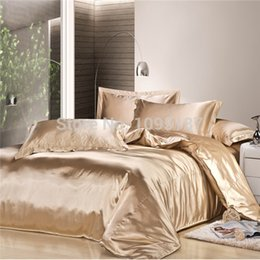 Wholesale Light Pink Comforter Set Queen - 2017 new arrive imetated silk Bedding set home textile bed linen set clothing of bed bedcloth soft silky bedding Queen&King size