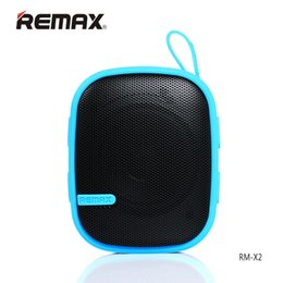 Wholesale X2 Phone Wholesale - Original Remax RM-X2 Mini Portable Bluetooth Speakers With FM Radio Subwoofer Handsfree For Phone Mp3 Player