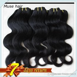 Wholesale Thick Brazilian Body Wave Bundles - Indian Body Wave Full &Thick Human Hair Bundles 50g pc 8Bundles The Best Hair Weave For You Color#1B Free DHLShipping