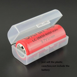 Wholesale Hard Plastic Storage Containers - 30pcs Home Organization box 1 PCS 26650 Li-ion Battery Storage Box 26650 Rechargeable Battery cell Pack Hard Plastic Case Holder Container