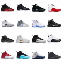 Wholesale Cherry Falls - 2018 NEW shoes 12s Mens basketball shoes wool ovo white gym red University Blue cherry the master taxi sneakers EUR 41-47
