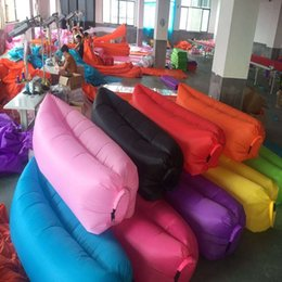 Wholesale Wholesaler Furniture - Lounge Sleep Bags Lazy Inflatable Beanbag Sofa Chair Foldable Self Inflated Beanbag Furniture Portable Bean Bag Cushion For Outdoor 36pt A