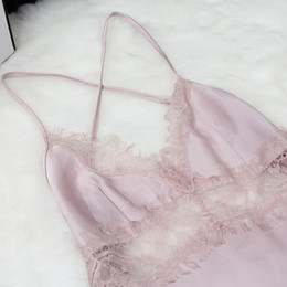 Wholesale satin babydoll nightwear - Wholesale- New Women's Satin Lace Robe Shorts Babydoll Women Sleepwear Nightwear Pajamas Set Hot