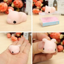 Wholesale Funny Exercise - Wholesale- Squishy Animal Pig Kaiwaii Squeeze Soft Slow Rising Mochi Seal Bread Cake Finger Exercise Anti Stress Novelty Funny Toys Gift