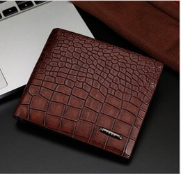 Wholesale Cowhide Clutches - Genuine Leather Men Wallet Thin Design Short Wallet Casual Purse With Card Holder Coin Purses And Photo Holder Wallets