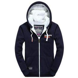 Wholesale Hoodie England - 2017 spring winter mens cardigan England style hoodies men warm fleece fashion men clothing man hoody sports running Sweatshirts