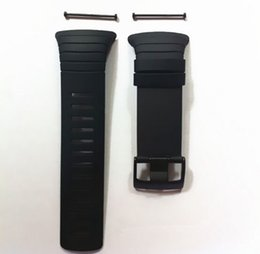 Wholesale Screw Strap - Wholesale- New! Watches Man For Suunto Core 100% Fit Original Strap Standard All Black Watch Band Strap +Clasp Screw +Tool