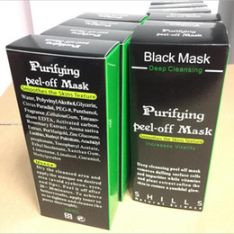 Wholesale 10pcs SHILLS Black Mask Charcoal Mask Blackhead Remover Deep Cleasing Peeling Off Face Mask Beauty Skin Care Big Promotion