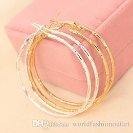 Wholesale simple earings - Charm Ear Stud Earings Jewelry Accessories Simple Earing Hoop Huggie Smooth Circle Earrings Golden Silver Plated Ear Acc Eardrop Jewellry