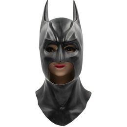Wholesale Batman Full Mask - Batman Masks Full Head Batman Vs Superman Mask Dark Knight Latex Mask Cosplay Batman Mask Halloween Cosplay Party Props Free Shipping