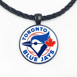 Wholesale Personalized Gifts For Cheap - Toronto Blue Jays baseball personalized necklace cool gifts for men baseball fans team gift cheap jewelry