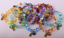 Wholesale Wholesale Scales China - New Design Fashion Armband Made By 12 Color Mix Beautiful Shiny Crystal Stone Vintage Gold Charm Fish Scales Mermaid Bracelet bangle