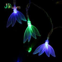 Wholesale Led Lights String Leaves - Wholesale- Crown Leaves Fairy lights Garlands 10 RGB LED Christmas String light Party Wedding Baby Room Decoration Night lights Luminaria