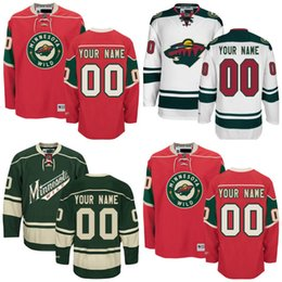 Wholesale Cheap Wild Hockey Jerseys - Cheap Hockey Jerseys Minnesota Wild Custom Minnesota Wild Jersey Any Name Any Number, Personalized Ice Hockey Jerseys Stitched