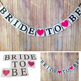 Wholesale Hot Hen Party - Wholesale- Brand New Love edding Hen Night Party Decor Photo Props BRIDE TO BE Bunting Garland Banner Hot