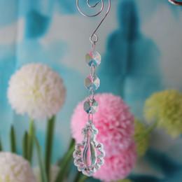 Wholesale Christmas Ornament Holders - 50PCS Wedding Event Decoration crystal drop chandelier Beaded Drop Ornament