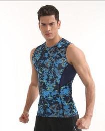 Wholesale Men Tight Vest - Men Fitness suit Sports Running Training Basketball Tight Dry vest