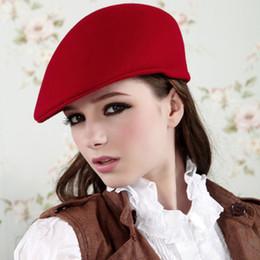 2019 cappello giallo newsboy Cappelli delle donne di autunno-inverno del cappello del berreto del lana del cammello del nero rosso aristocratico di modo