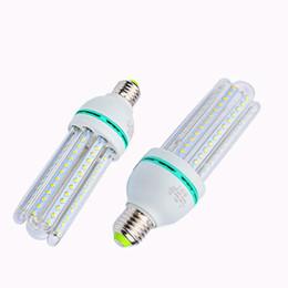 Wholesale 7w Energy Saving Bulb - 2U 3U 4U LED Bulbs E27 E14 B22 Energy Saving Lamp 5W 7W 9W 12W 16W 2835 SMD LED Corn Light AC85-265V