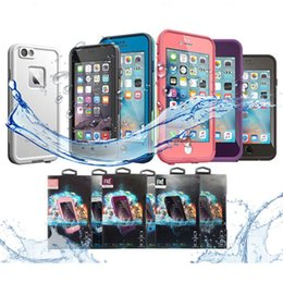 Wholesale Iphone Case Packaging Wholesale - AAA++ quality Waterproof Shockproof Snowproof Dirt Snow Proof Case For Iphone 6 4.7 Retail Package VS Redpepper Samsung S5 free shipping