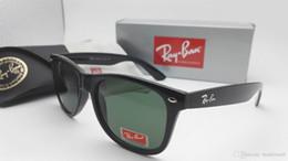 Wholesale Vintage Cat Eye Frames - New Vintage Sunglasses Cat Eye Wayfarers Brand RAY Sun Glasses Bands Gafas de sol Men Women BEN BANS Mirror glass Lenses with case