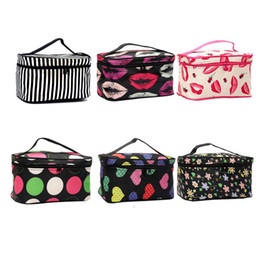Wholesale Zebra Cosmetic - 6 Colors Cheap Zipper Makeup Bag Lip Zebra Dot Flowers Pattern Women's Travel Cosmetic Bag Free Shipping Wholesale ELB063