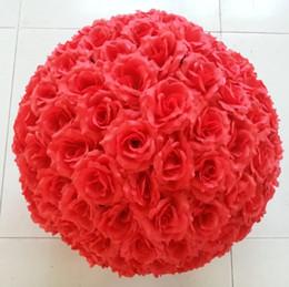 decoração de bola de rosa atacado Desconto Brand new 15 cm simulação de alta qualidade de criptografia rosa flores bola para o ano novo decorações de casamento festivo buquê 5 p