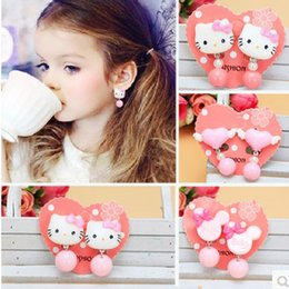 Wholesale Wholesales Clip Baby Earrings - 2017 Children Cute cartoon ear clips design accessory Jewelry Baby girls Resin earings Girl's Stud Earrings Kids 28 styles DHL free shipping