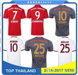 Wholesale Home Casual - 2016 2017 Munich 3RD home Away 16 17 VIDAL COATA LEWANDOWSKI MULLER ROBBEN GOTZE BOATENG ALABA shirts