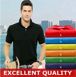 Wholesale Mens Collar Shirts Green - New Brand Polos Mens Crocodile Embroidery POLO Shirts Cotton Short Sleeve Camisas Polo Casual Stand Collar Male Polo Shirt Summer Hot Sale