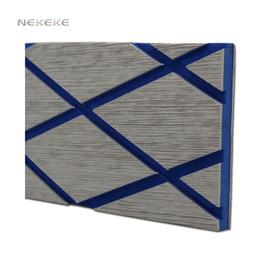 Wholesale Floor Cushion Pads - NEKEKE synthetic teak decking flooring deck sheet durable EVA foam deck pad high quality Soft yet durable