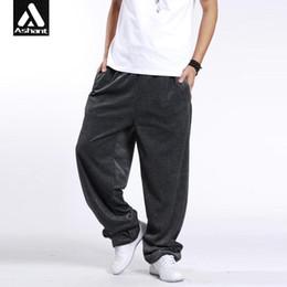 Wholesale Dancer Hip Hop - Wholesale-Man Exercise Joggers Trousers Plus Size XXXL 3XL Hip Hop Loose Casual Dancer Wide Legs Pants Baggy Velvet Sweatpants Fitness