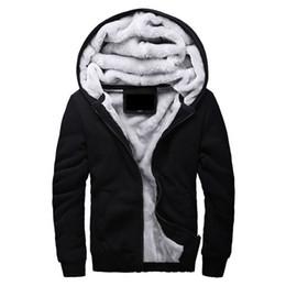 Wholesale Mens Brown Wool Winter Coat - Wholesale- Hot Sale Men's Hooded Casual Brand Hoodies Clothing Wool Liner Mens Winter Thickened Warm Coat Male M-4XL Sweatshirts Outwear