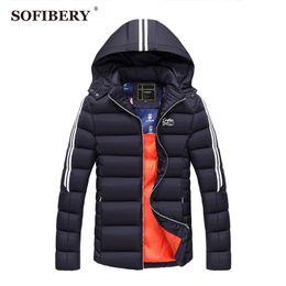 Wholesale Overcoat Coats Men - Wholesale- SOFIBERY Coats New Men's Coats & Jackets Down & Parkas winter brand Men's jacket men coat thick overcoat 2XL 3XL JOB-ZH1628