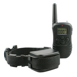 Wholesale Dog Ring Sport - 3pcs lot 4 modes remote static shock  vibration  beep  light training collar for 1 dog and ergonormic transmitter rang up 300m 998DR-1