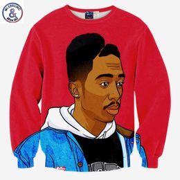 Wholesale Rap Hoodies - Hip Hop Hip Hop sweatshirt men 3d print rap singer Tupac 2pac fashion tops hoodies lovely clothes thin slim pullover