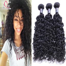 Wholesale Ocean Wave Hair - Peruvian Virgin Hair Natural Wave 3 bundles Unprocessed Peruvian Ocean Wave Wet And Wavy Human Hair Natural Wave